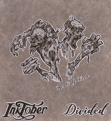 Inktober 02 Divided 2017