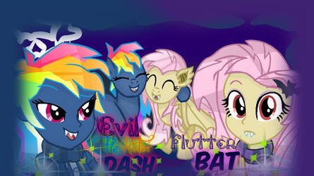 MLP- EG Evil Pie Hater RD And FlutterBat (S4,S7). by YayCelestia0331