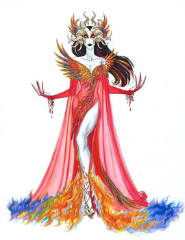 Asmodeus Fashion - The Rising Phoenix Dress