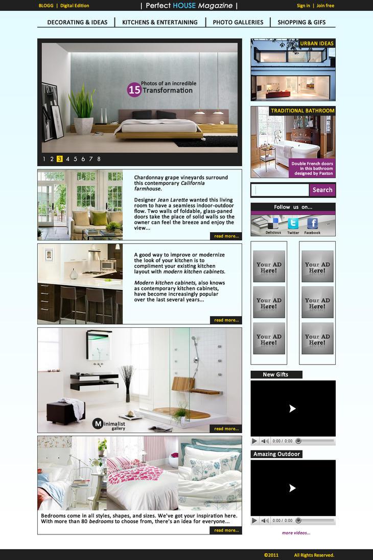 Perfect House Magazine Site By JohannGeist On DeviantArt