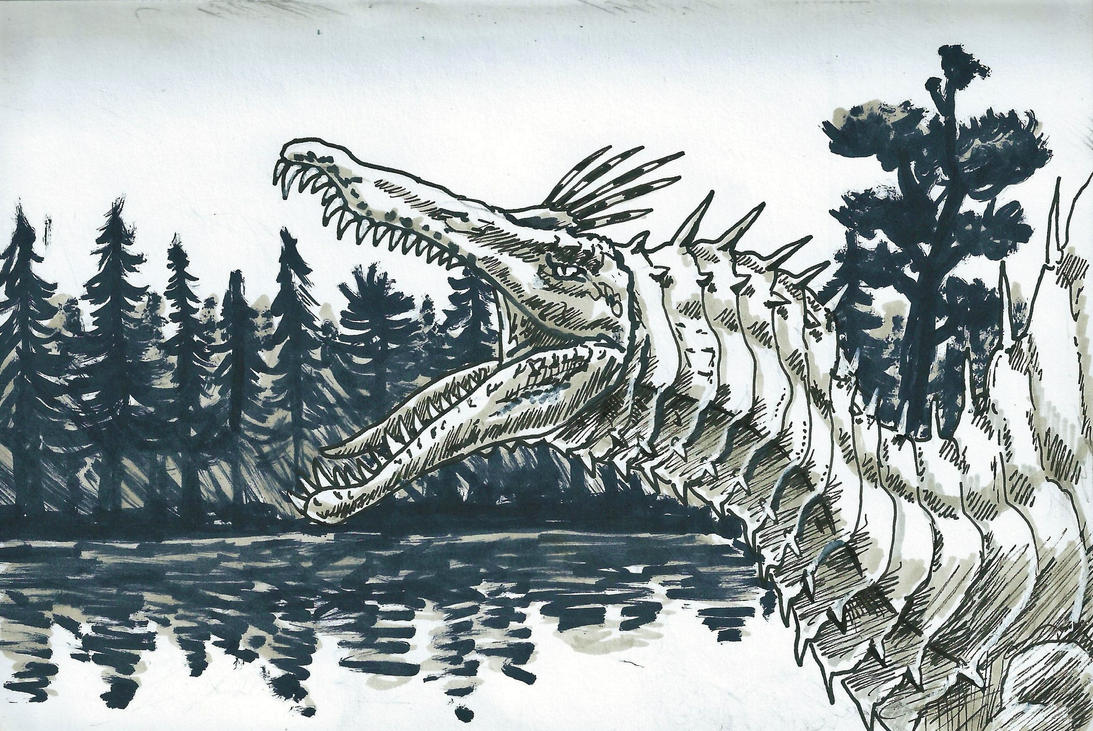 Spinosaurus by Silvanoxia