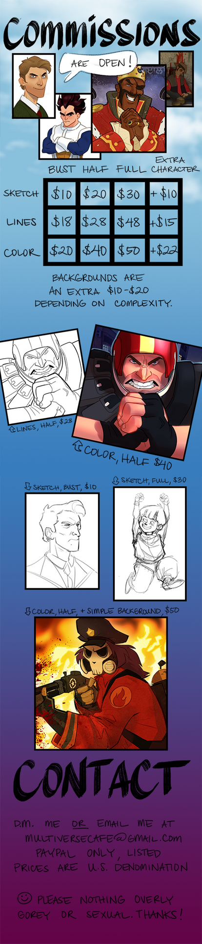 Commission Info by MultiverseCafe