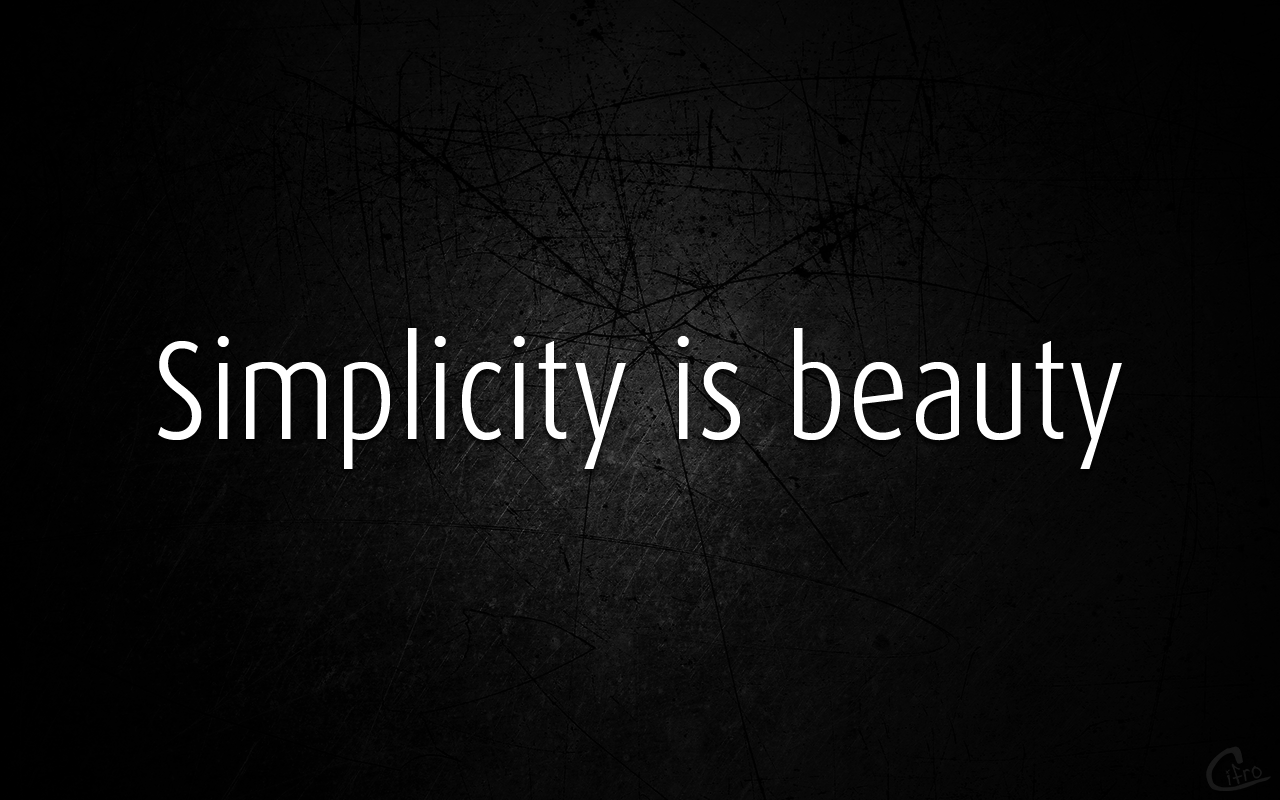 The Beauty Of Simplicity « A Shade Of Pen