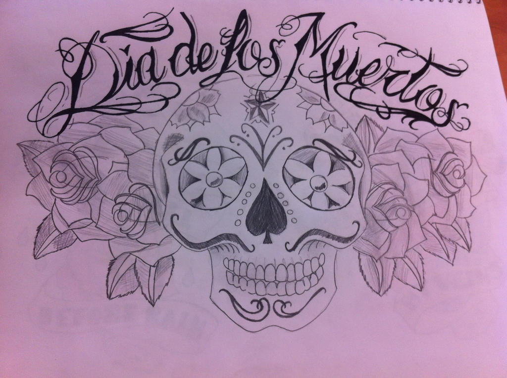 dia de los muertos tattoo design by loveanddimples on deviantart. Black Bedroom Furniture Sets. Home Design Ideas