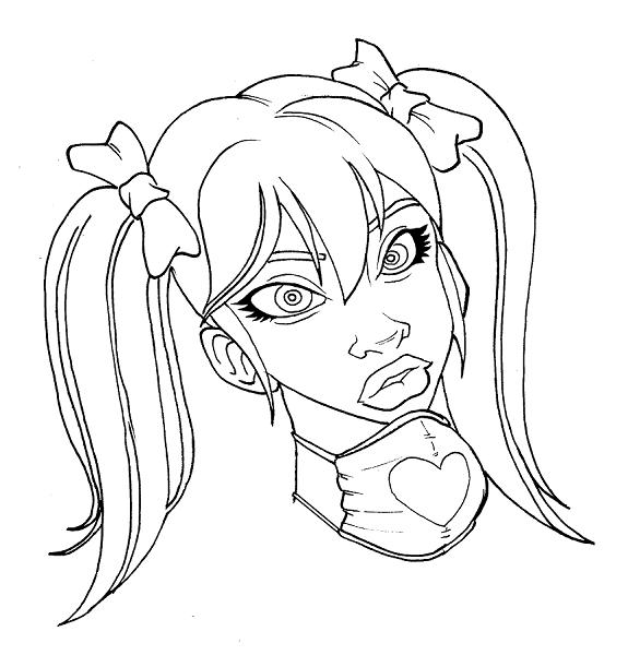 Quinn Line Art : Harley quinn w i p by tobyvespa on deviantart