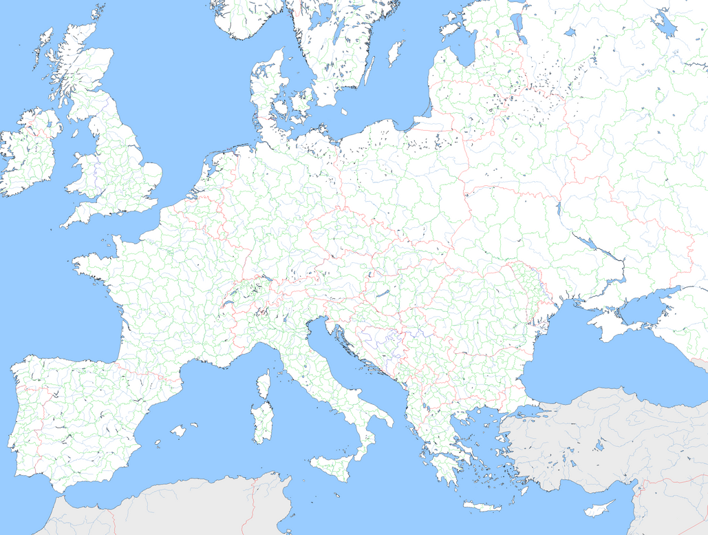Large Blank Europe Template by mdc01957 on DeviantArt