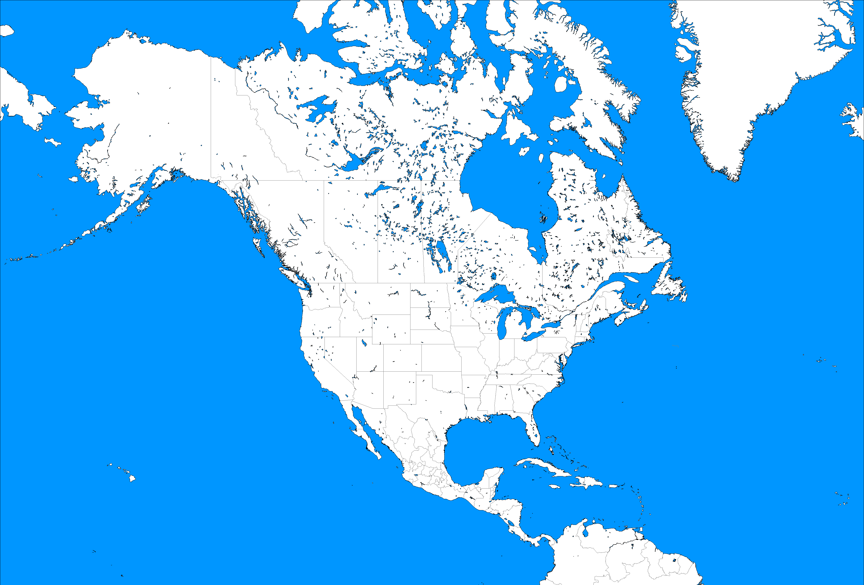Large Blank North America Template by mdc01957 on DeviantArt