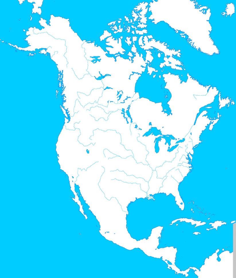 North America Map Template.North America Blank Map Template Ii By Mdc01957 On Deviantart