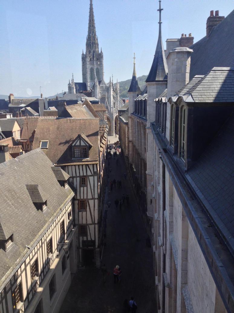 Rouen - Rue Saint-Romain/Archbishop's Palace by mdc01957
