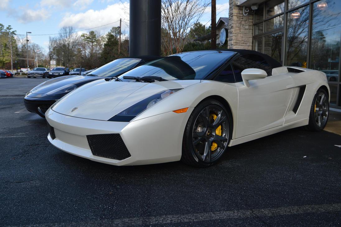 Pearl White Lamborghini Gallardo Convertiblehcitron On Deviantart