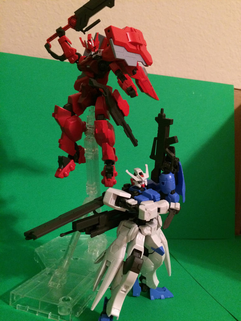 Astaroth and Astaroth Origin Gundam by crimsonvz