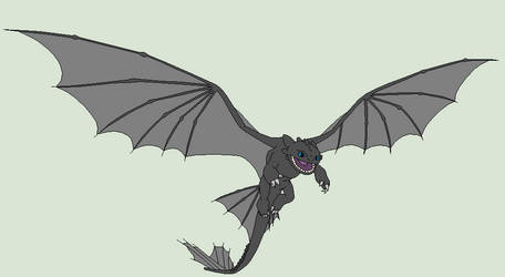 HTTYD Base 2~Nightfury 2~ by Xbox-DS-Gameboy