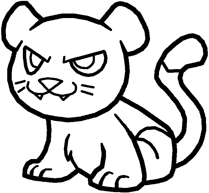 D Line Drawings Xbox : Baby cougar lineart by xbox ds gameboy on deviantart