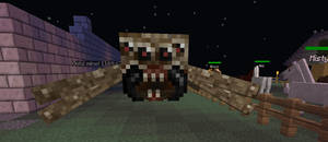 Creepy Minecraft Spider