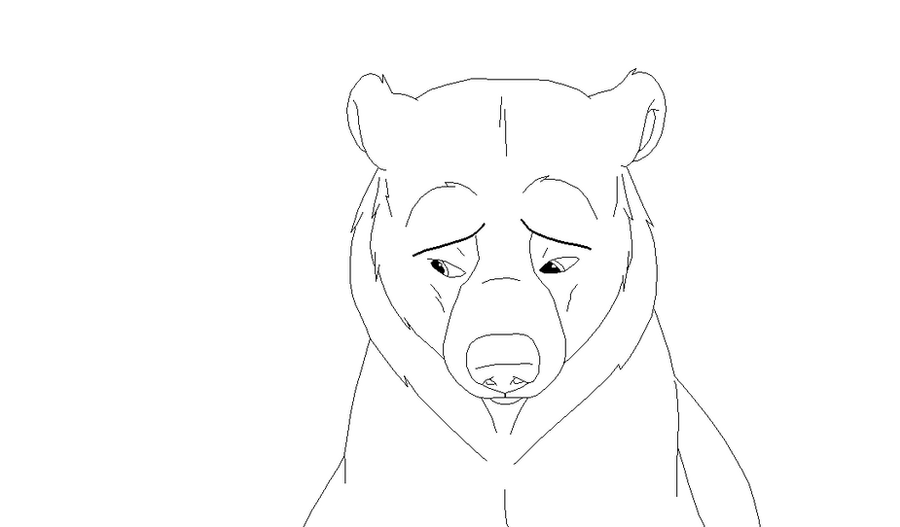 D Line Drawings Xbox One : Brother bear lineart by xbox ds gameboy on deviantart