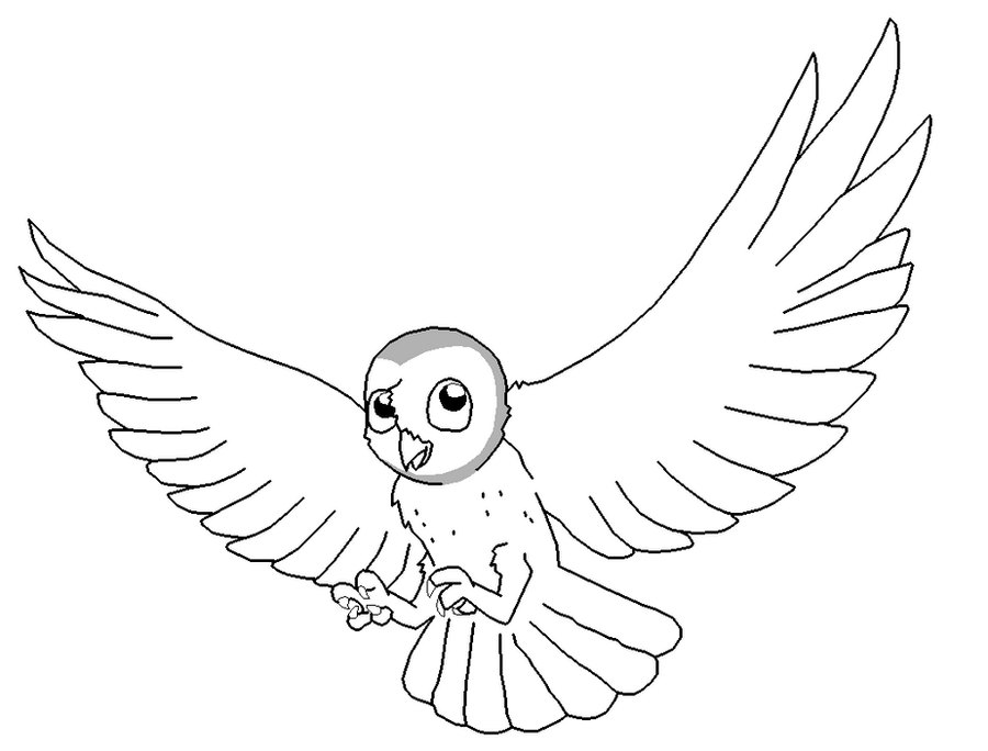 D Line Drawings Xbox : Barn owl lineart by xbox ds gameboy on deviantart