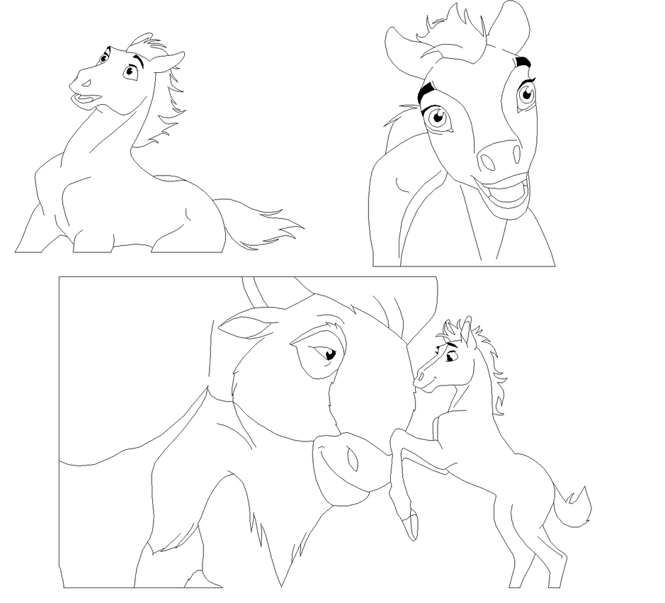spirit stallion of the cimarron coloring pages - rain spirit stallion of the cimarron coloring pages