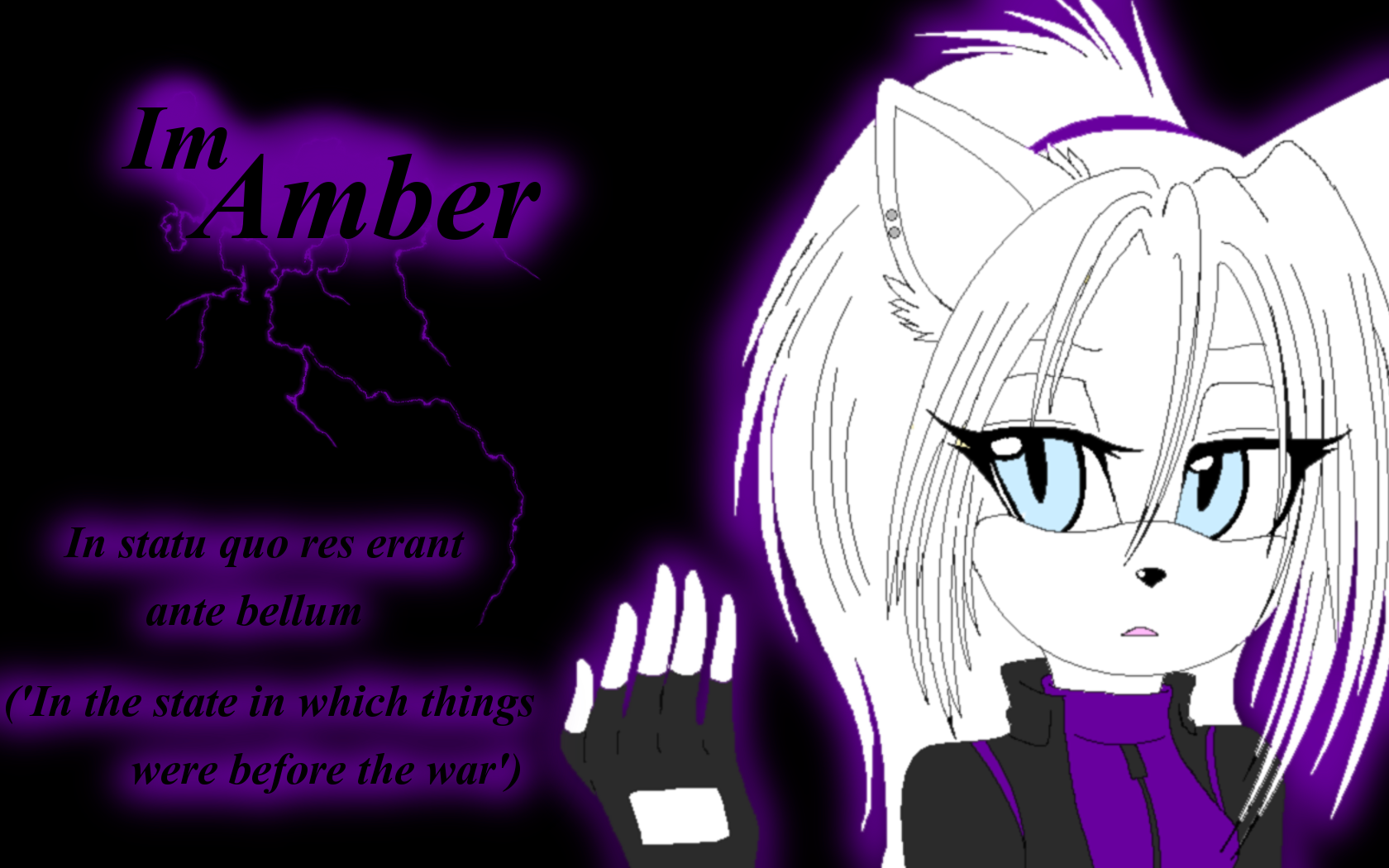 Amber the Wolf Wallpaper by Xbox-DS-Gameboy
