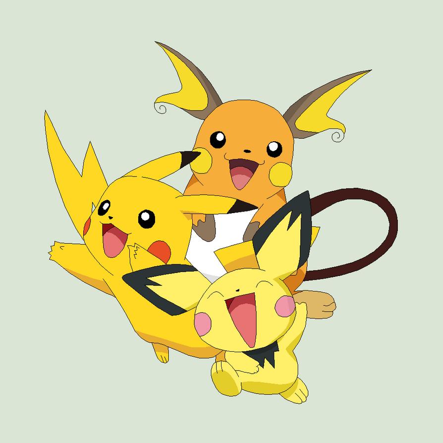 Pokemon base 32 pichu evolution by xbox ds gameboy on - Pokemon x raichu mega evolution ...