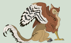 Owl Hippogriff Lineart