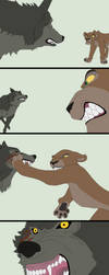 Animated Comic 5~Wolf vs Lion~ by Xbox-DS-Gameboy