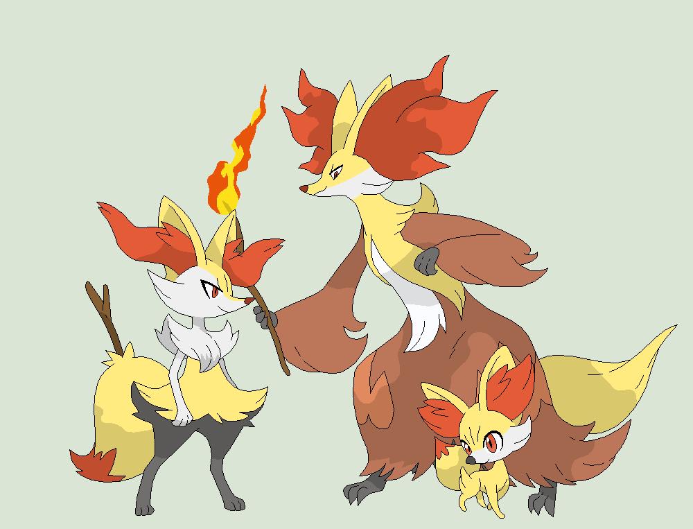 Pokemon base 98 fennekin evolution by xbox ds gameboy on - X evolution pokemon ...