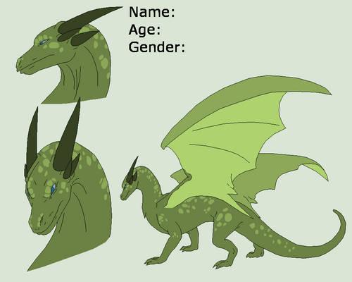 Dragon Lineart 5~Dragon ref 1~