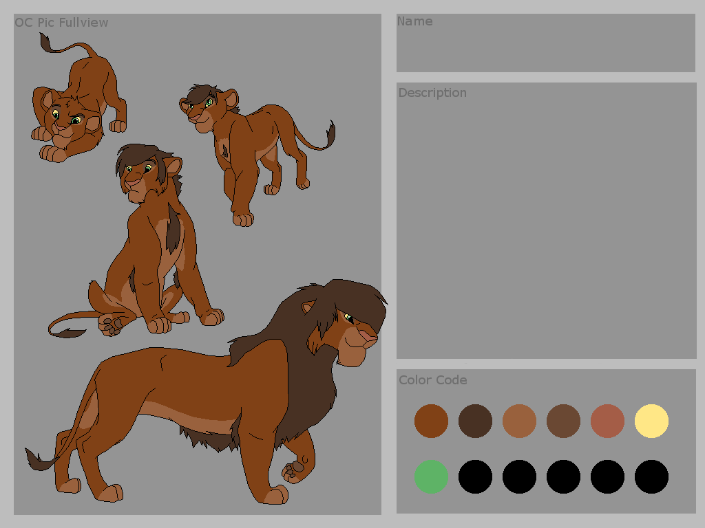 Lion King Base 45~Male Lion Reference Base~ By Xbox-DS