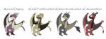 HTTYD Adopts 3~1/4 Open~30 points each~ by YoFreshBean