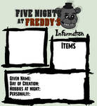 .:Five Nights at Freddies:.:Character Template:.