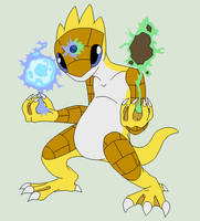 Pokemon Fusion Base 36~Golshrew~ by Xbox-DS-Gameboy