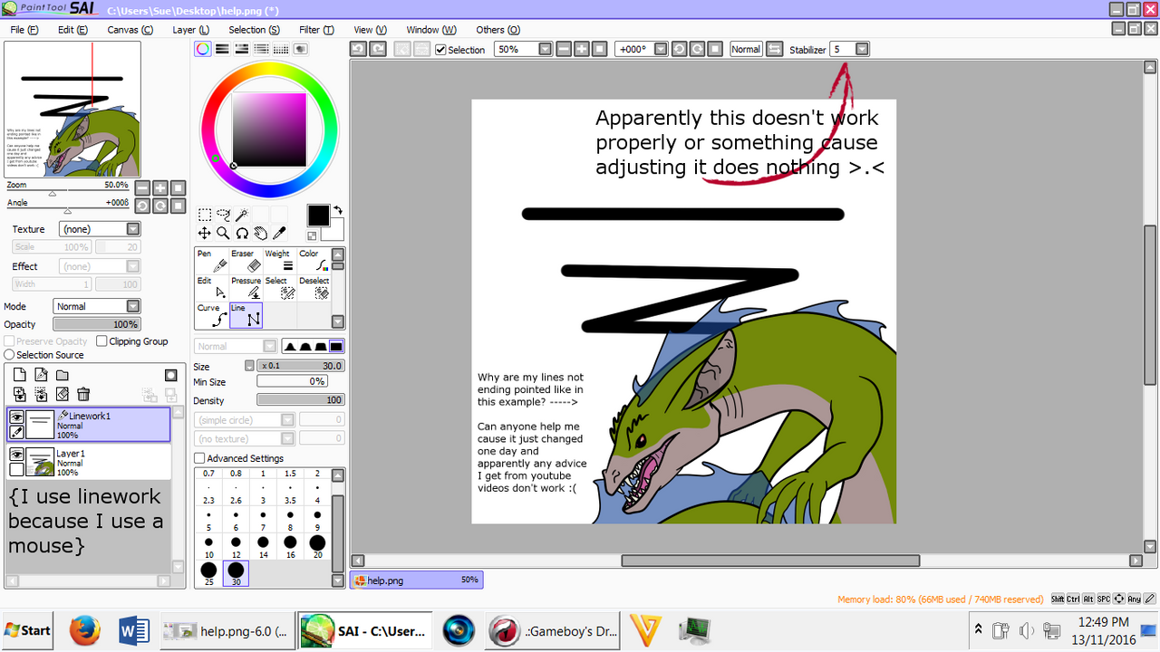 how to change where your pictures go sai
