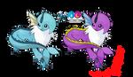 Pokemon Fusion Photoshop~Vaporsol~ by Xbox-DS-Gameboy