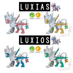 Pokemon Fusion Photoshop~Luxios and Luxias~ by Xbox-DS-Gameboy