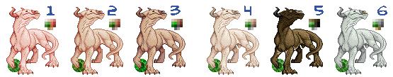 DragCave Taurus Dragon Lineup by AdmYrrek-Pixels