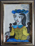 The Yellow Sweater Dora Maar Oil Painting on paper by ShymychS