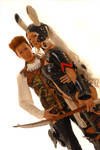 Fran and Balthier look