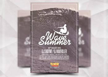Wave Summer Flyer by Flyermarket