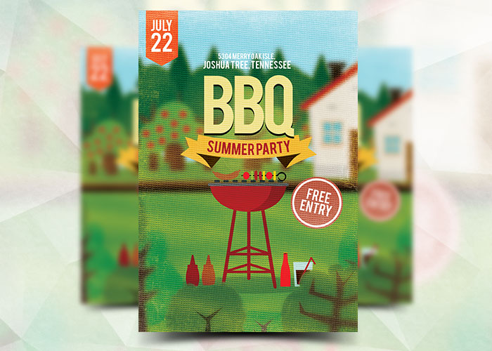 BBQ Summer Party Flyer