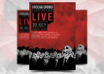 Undead Crowd Flyer by Flyermarket