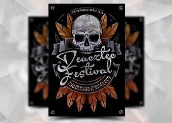Deacztec Festival Flyer by Flyermarket