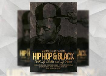 Hiphop Black by Flyermarket