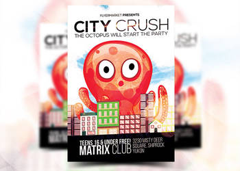 City Crush Flyer Template by Flyermarket