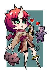 Chibi Demon Adoptable!  10Euro by Warshift