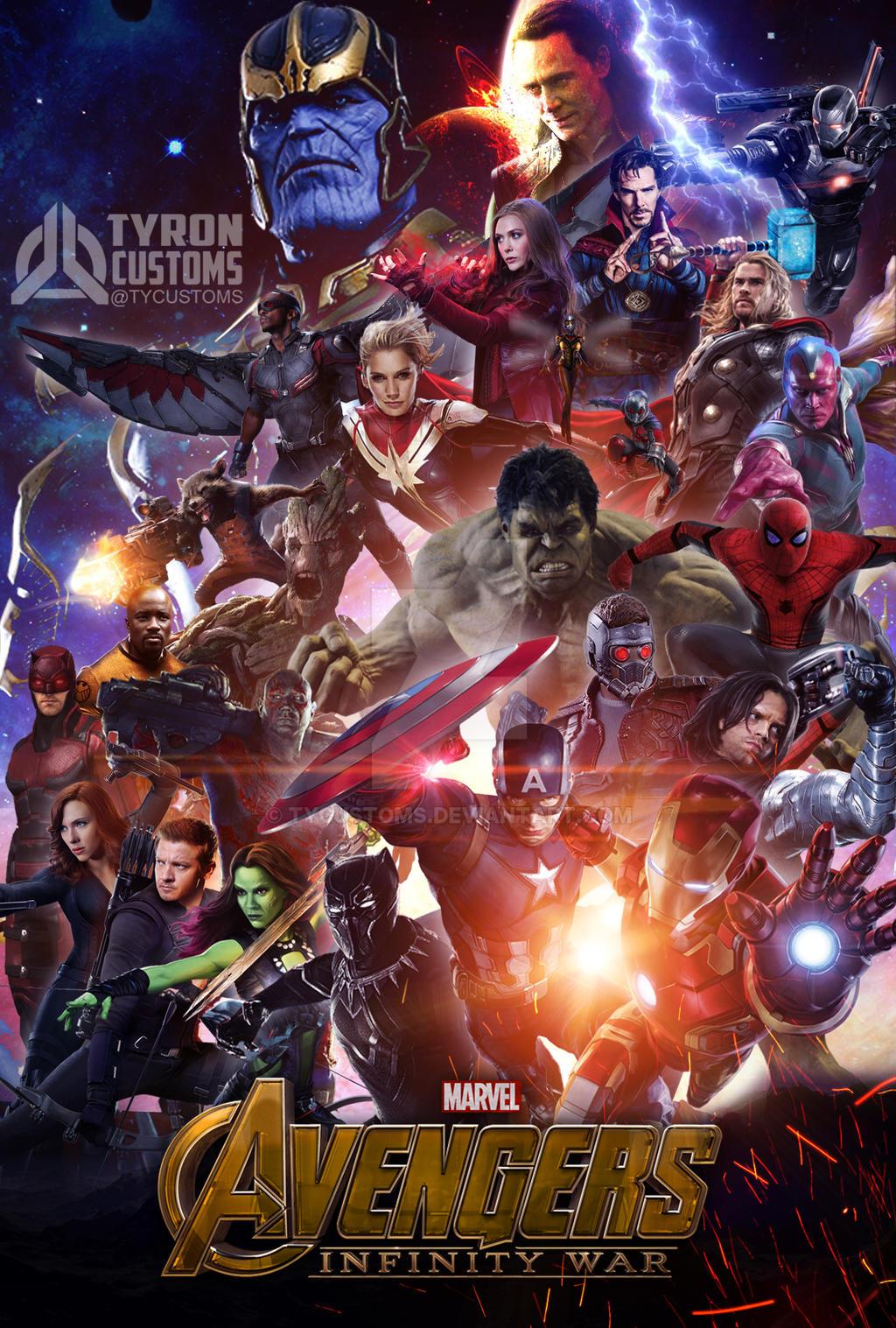 Avengers Infinity War 2018 Fan Art By Tycustoms On Deviantart
