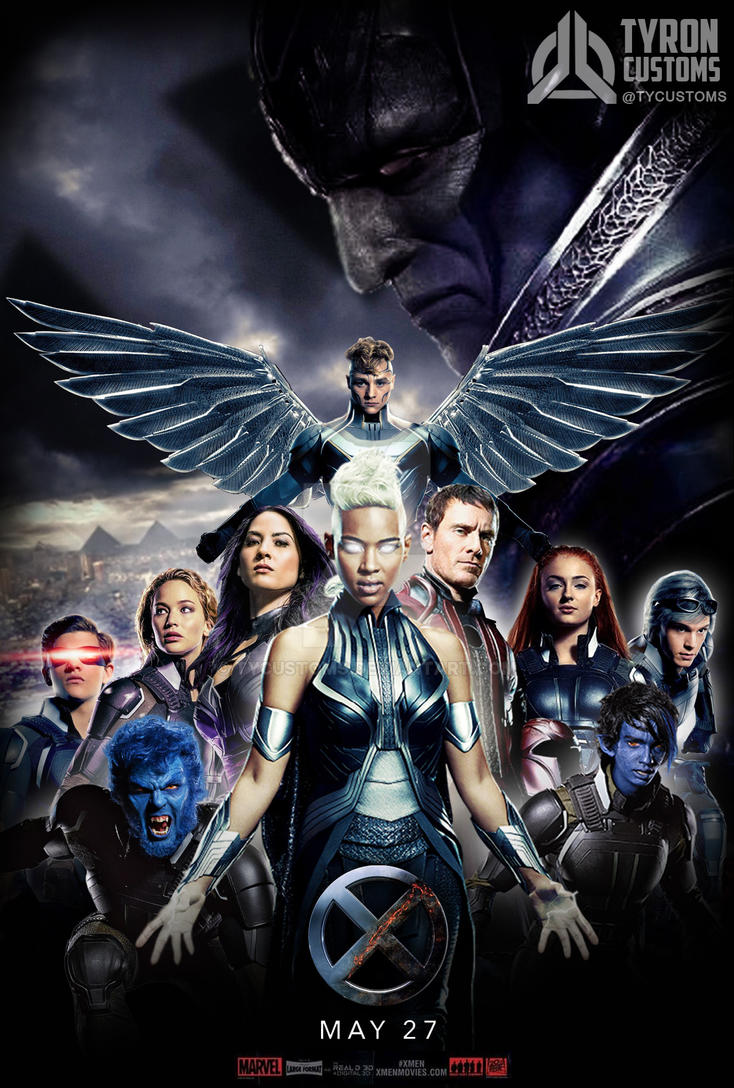 x-men apocalypse 2016 fan arttycustoms on deviantart