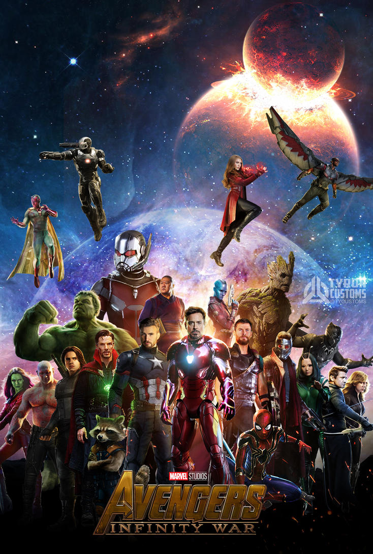 avengers infinity war poster 19-7 by tycustoms on deviantart
