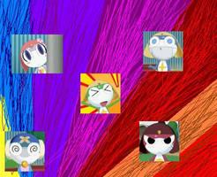Keroro:Puru,Kero,Zero,Giro,Kur by angelwolf2002