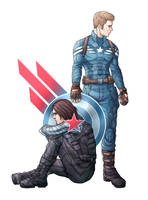 Cap and Bucky by Asenath23