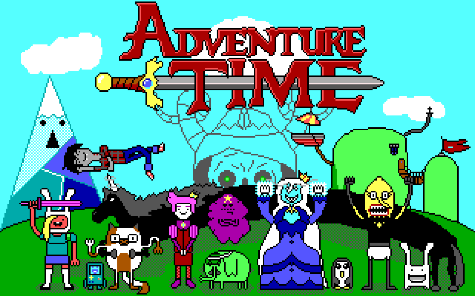 Adventure Time EGA (Fionna and Cake version) by Amayirot-Akago